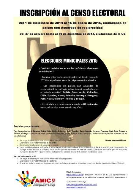 Cartel Inscripción al Censo Electoral_2014