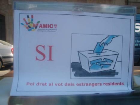 Urna SÍ al dret al vot